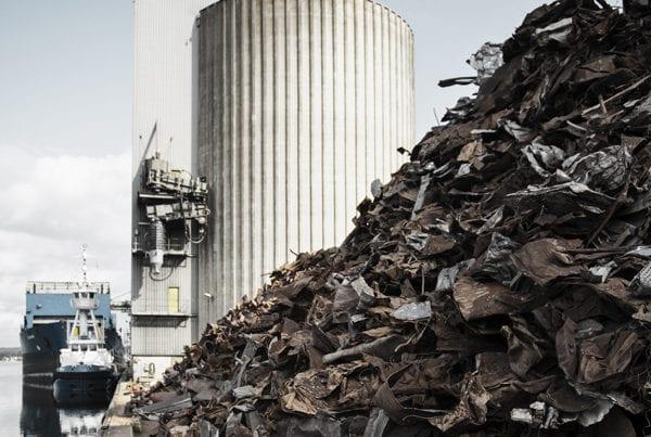 scrap metal and silo