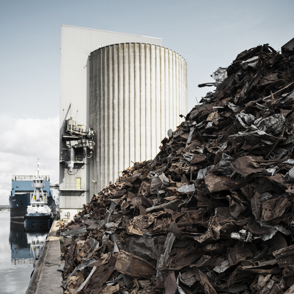 Rimeco is widening its scrap yard in the port of Kolding
