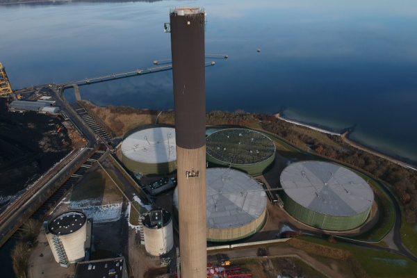 Rimeco taking down 184 meters of chimney in Aabenraa