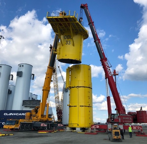 Turning offshore wind turbine towers into fresh steel