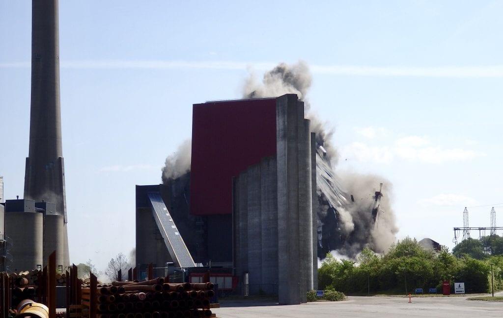 demolition of Enstedværket